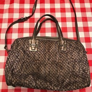 Authentic Coach Taylor Python Print Bag Satchel
